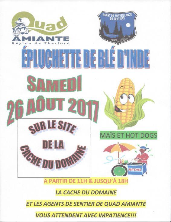 ÉPLUCHETTE DE BLÉ D'INDE 2017